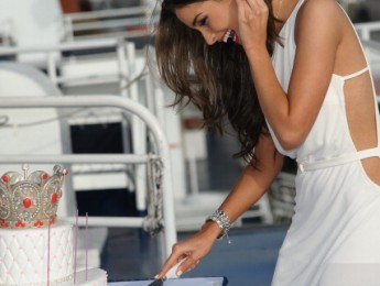 Miss Universe, Olivia Culpo 21st Birthday Celebration Aboard The World Yacht - Arrivals